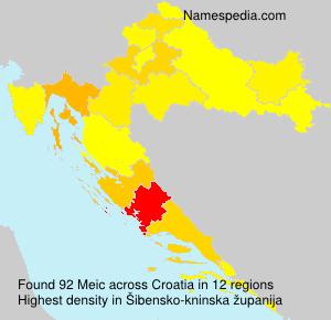Surname Meic in Croatia