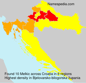Surname Melkic in Croatia