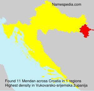 Surname Mendan in Croatia