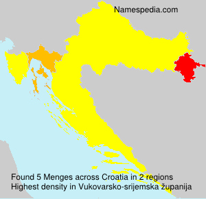 Familiennamen Menges - Croatia
