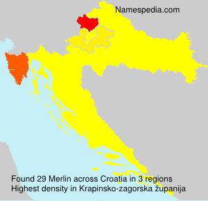 Surname Merlin in Croatia