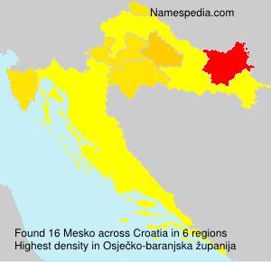 Surname Mesko in Croatia