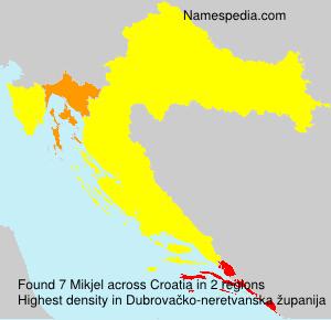 Surname Mikjel in Croatia