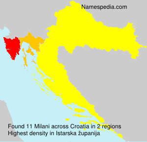 Surname Milani in Croatia