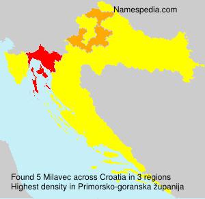 Surname Milavec in Croatia