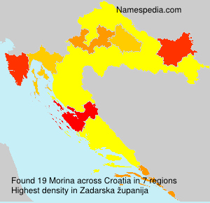 Surname Morina in Croatia
