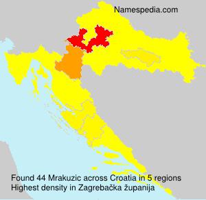 Surname Mrakuzic in Croatia
