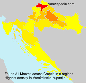 Surname Mrazek in Croatia