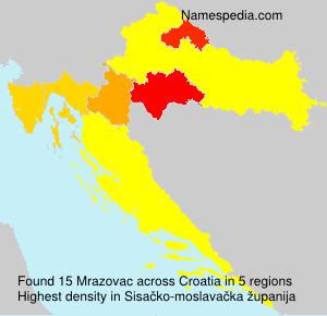 Surname Mrazovac in Croatia