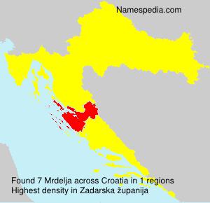 Surname Mrdelja in Croatia