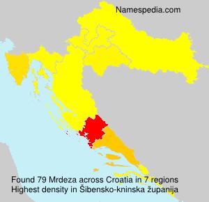 Surname Mrdeza in Croatia
