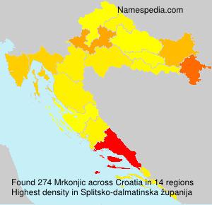 Surname Mrkonjic in Croatia