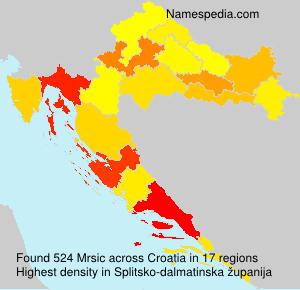Familiennamen Mrsic - Croatia