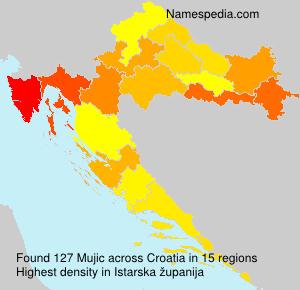 Familiennamen Mujic - Croatia