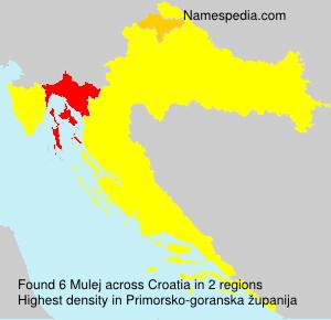 Surname Mulej in Croatia