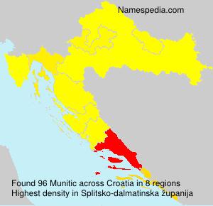 Surname Munitic in Croatia