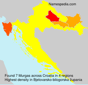 Surname Murgas in Croatia