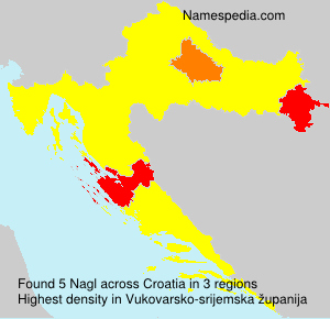 Surname Nagl in Croatia