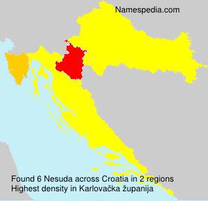 Familiennamen Nesuda - Croatia