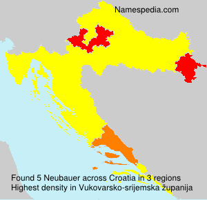 Surname Neubauer in Croatia