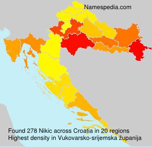 Surname Nikic in Croatia