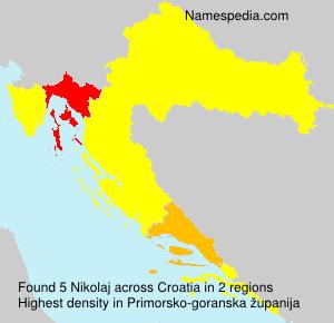 Surname Nikolaj in Croatia