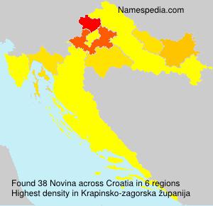 Familiennamen Novina - Croatia