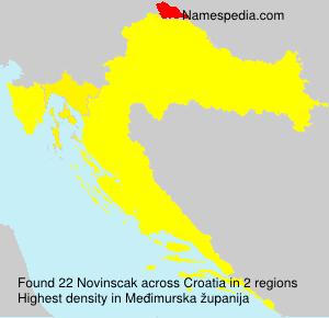 Familiennamen Novinscak - Croatia