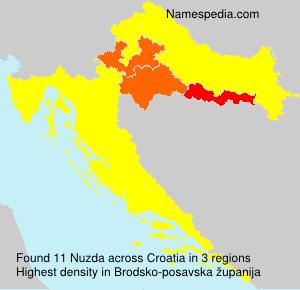 Surname Nuzda in Croatia