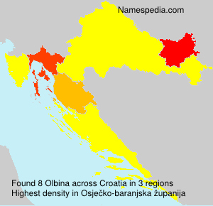 Surname Olbina in Croatia