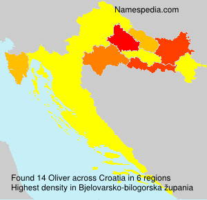Surname Oliver in Croatia