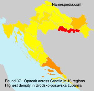 Familiennamen Opacak - Croatia
