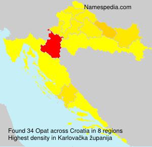 Familiennamen Opat - Croatia