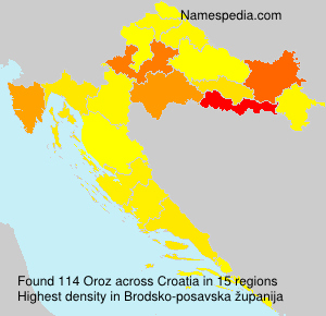 Surname Oroz in Croatia