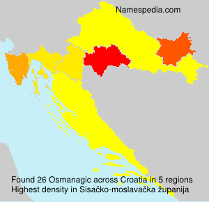 Surname Osmanagic in Croatia