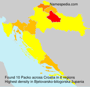Surname Packo in Croatia