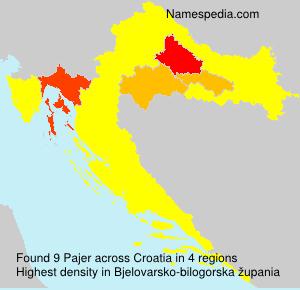 Surname Pajer in Croatia