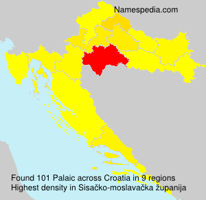 Surname Palaic in Croatia