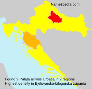 Familiennamen Palata - Croatia