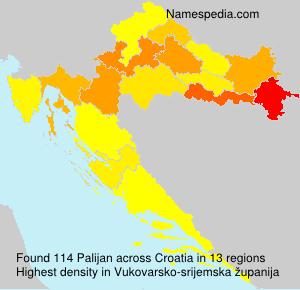 Familiennamen Palijan - Croatia