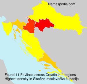 Surname Pavlinac in Croatia