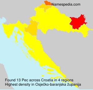 Familiennamen Pec - Croatia
