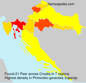 Surname Peer in Croatia