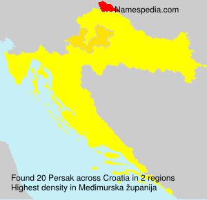 Familiennamen Persak - Croatia