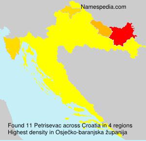 Familiennamen Petrisevac - Croatia