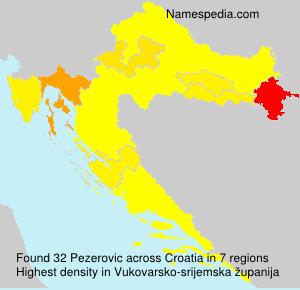 Surname Pezerovic in Croatia