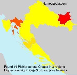 Surname Pichler in Croatia