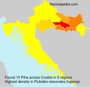 Surname Piha in Croatia