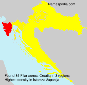 Surname Pilar in Croatia