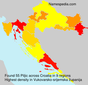 Surname Piljic in Croatia